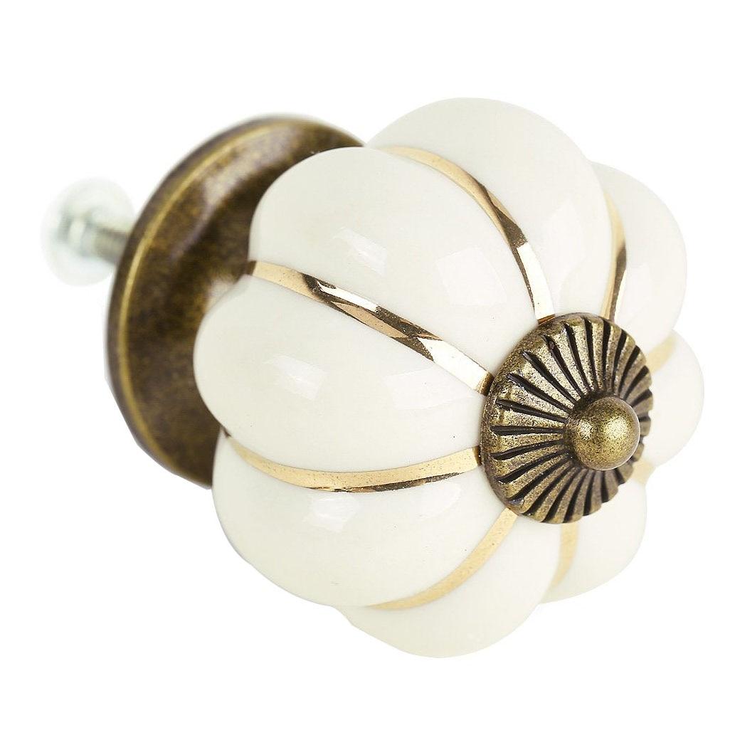 8 Design Pumpkin Porcelain Knobs Furniture Handles Furniture knob Furniture knob luxury white диван luxury elegance furniture msxd 191