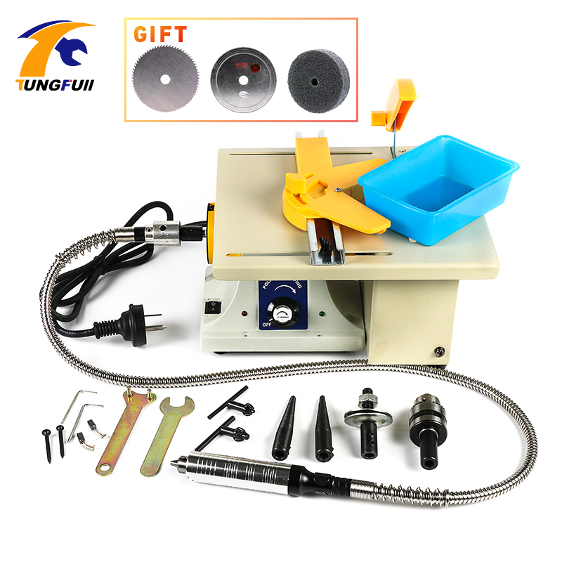 Tungfull Desktop Mini Smerigliatrice Rettifica Macchina Per La Lavorazione Del Legno Intagliare Lucidatura Potere Smerigliatrice Macchina Incisore Elettrico Dremel