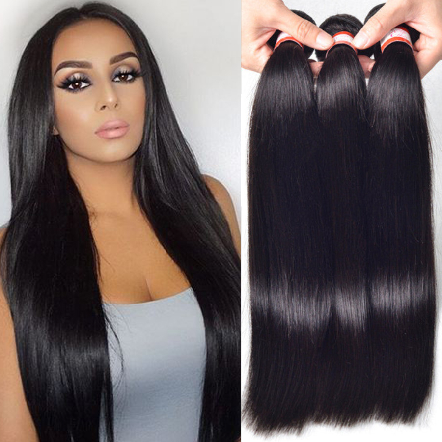 Peruvian Straight Virgin Hair 4 Bundles Peruvian Straight ...