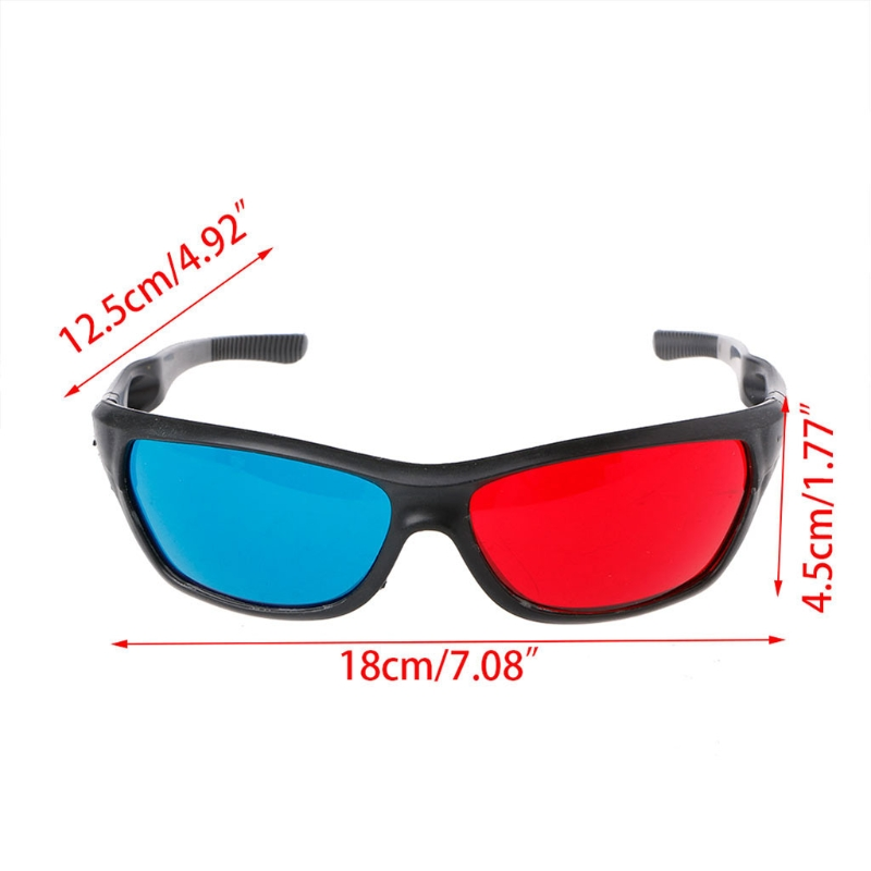 ABS+PC Universal White Frame Red Blue Anaglyph 3D Glasses For Movie Game DVD Video TV AC Resin Left Red / Blue Right