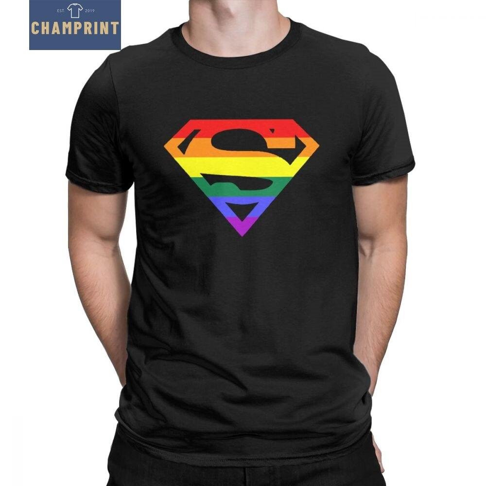 Super Estranhos Camisetas Homens Rainbow Gay Lésbico Orgulho LGBT LGBTQ Plus Size Roupas de Manga Curta T-Shirt O Pescoço de Algodão tees Tops