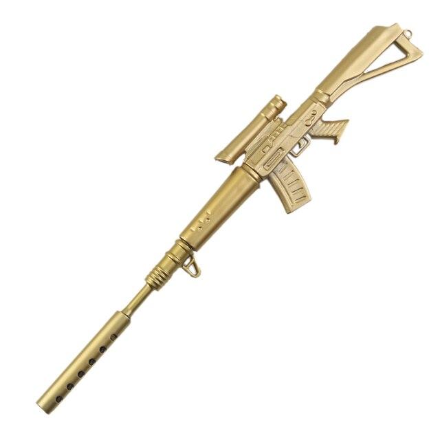 1 pcs korean school supplies rifle gold gun shape gel pen weapons