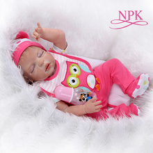 48CM bebe realistic reborn premie newborn baby doll hand detailed painting sleeping baby full body silicone Anatomically Correct