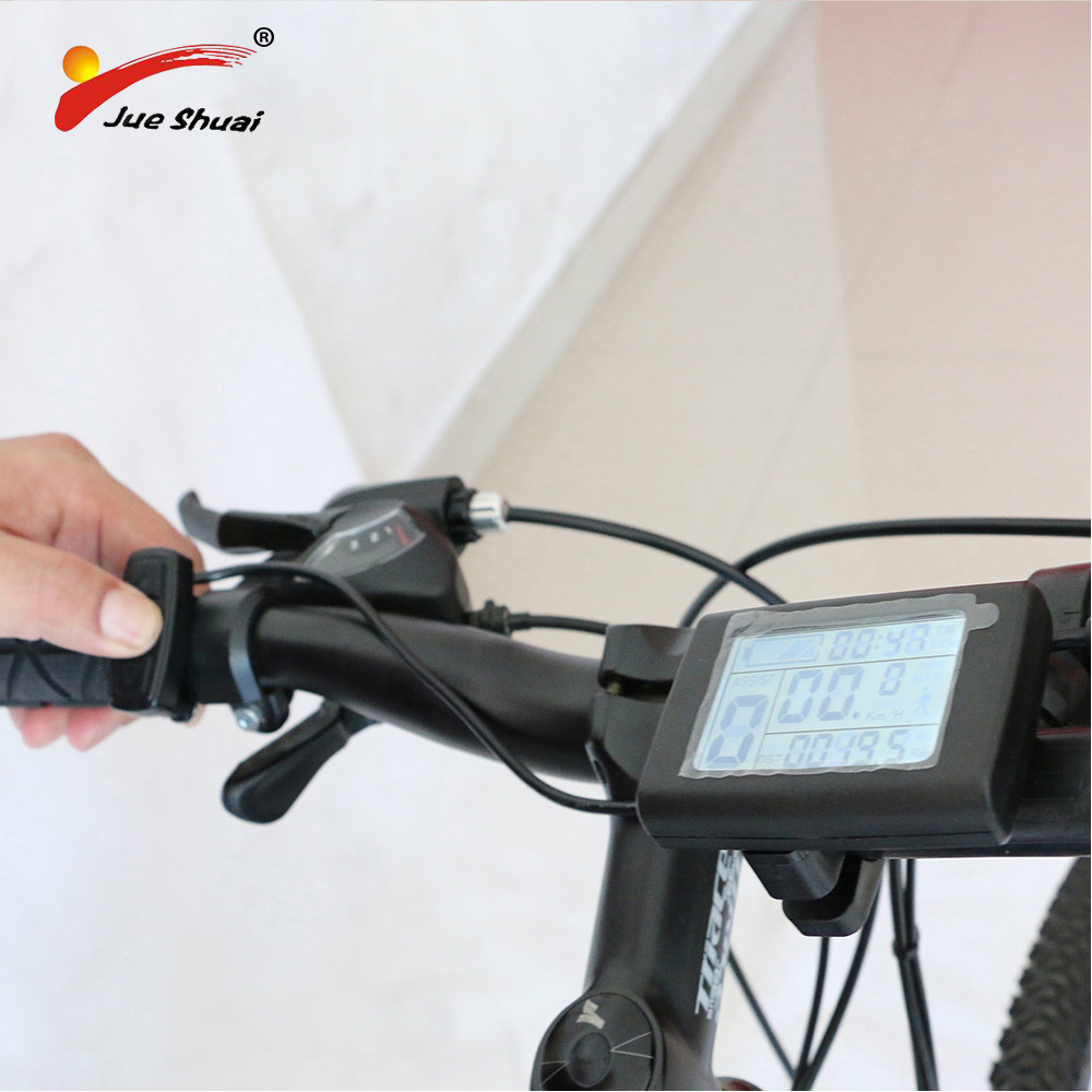 Electric Bicycle Computer E Bike 36v 48v Lcd Display Speedometer