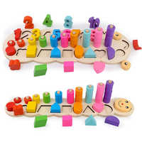 Montessori Materialien Bildungs Holz Spielzeug Zählen Zahlen Form Passenden Frühen Lernen Bildung Lehre Geschenke für Kinder