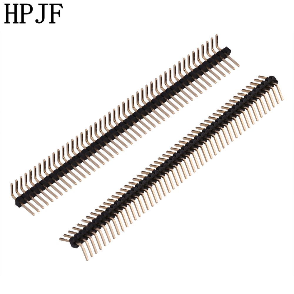 10Pcs Pitch 1.27mm 1x50 Pin 50 Pin Single Row Right Angle Male Pin Header Strip Connector