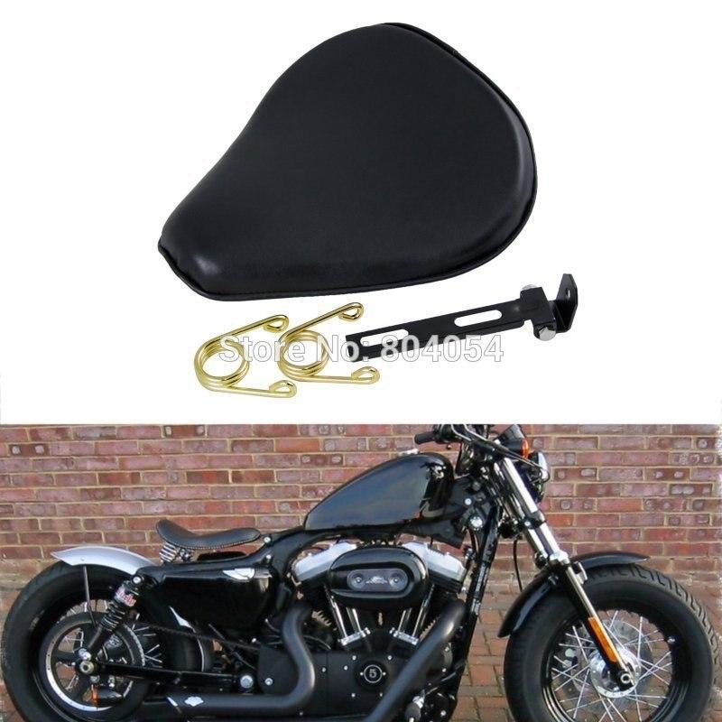 "Moto 3/"" solo spring seat saddle stand for harley chopper bobber custom"
