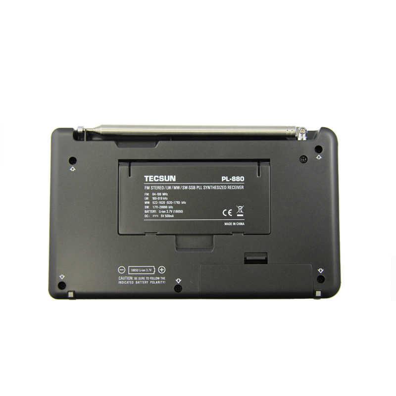 Tecsun/Desheng PL-880 Yüksek Performanslı Tam Bant taşınabilir Dijital Ayar Stereo Radyo LW/SW/MW SSB PLL Modu FM (64-108 mHz)