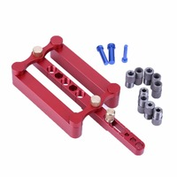 Precise Drilling Tools Woodworking Joinery Tool SetSelf Centering Dowelling Jig 3 In 1 Punch Locator Red
