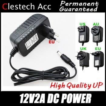 цена на 1PC Free 12V2A AC 100V-240V Converter Adapter DC 12V 2A 2000mA Power Supply EU Plug 5.5mm x 2.1-2.5mm for LED CCTV Free shipping