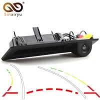 Dynamic Trajectory Parking Line Car Trunk Handle Rear View Camera For BMW X1 X3 X4 X5 F30 F31 F34 F07 F10 F11 F25 F26 E84
