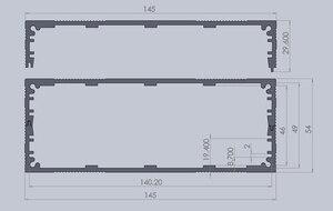 Image 5 - מארז אלומיניום פרויקט תיבת פיצול סוג מארז PCB 145x54x200mm DIY מגבר הפצת תיבה