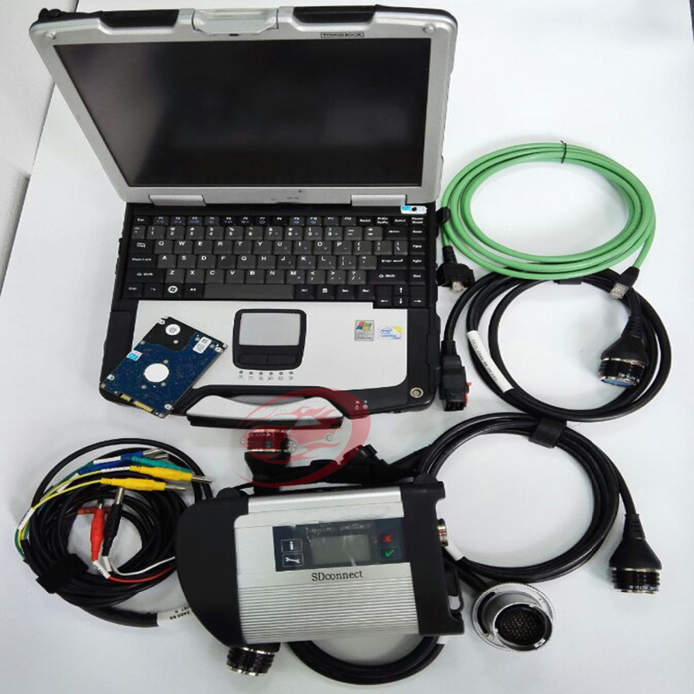 Top quality mb sd connect c4 with professional cf 30 for Mercedes benz diagnostic computer