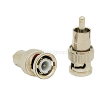 10pcs BNC Male to RCA Male Coax Cable Connector Adapter F/M Coupler for CCTV Camera Accessory