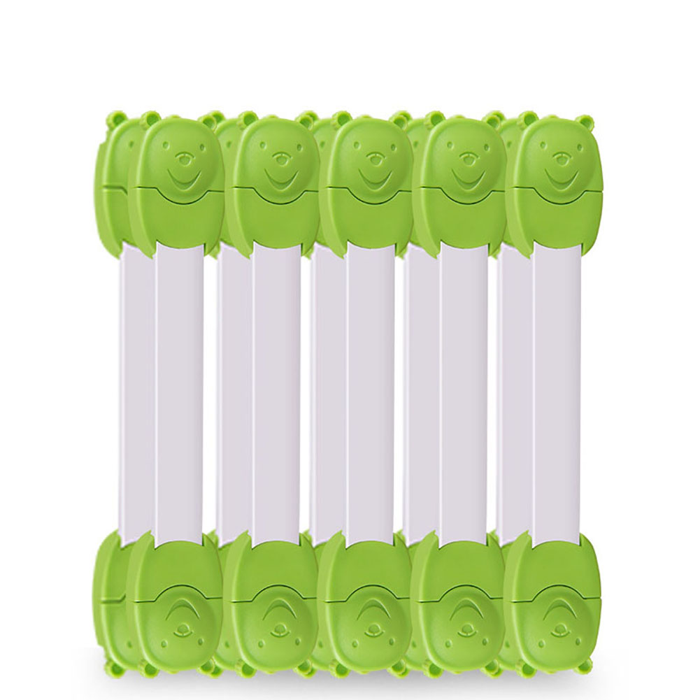 10pcs Children Safety Locks Double Button Protection For Drawer Cabinet Refrigerator XHC88