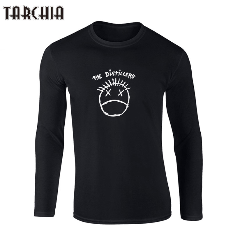 TARCHIIA 2018 New Letter Print T Shirt Mens THE DISTILLERS 100% Cotton T-shirts Summer Skateboard Tee Boy Skate Tshirt Tops