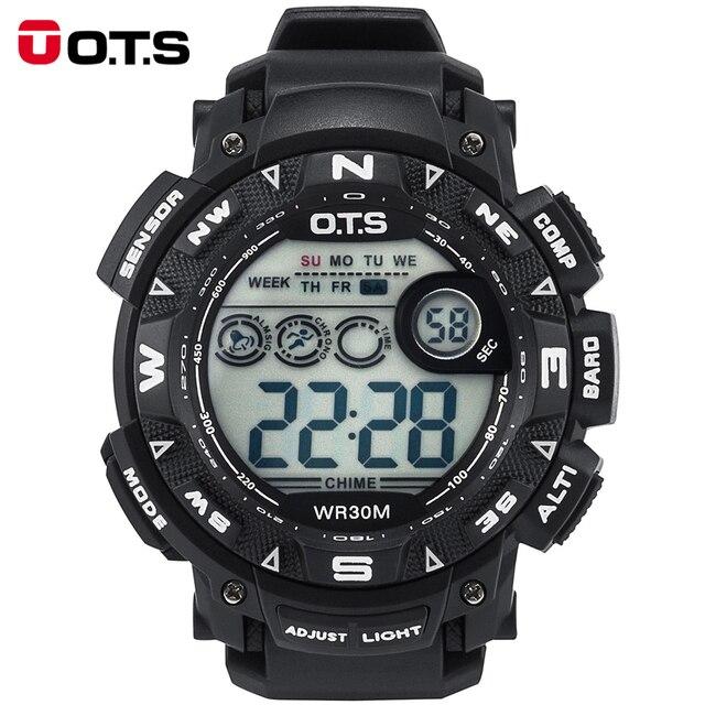 ОТС мужская 7000 Г Водонепроницаемая Цифровая Часы Походы На Открытом Воздухе Спортивные Часы