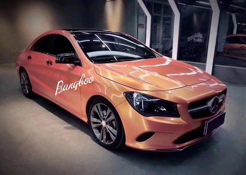 1.52x18 m haute qualité magique rose brillant corail autocollant voiture carrosserie décoration vinyle Wrap