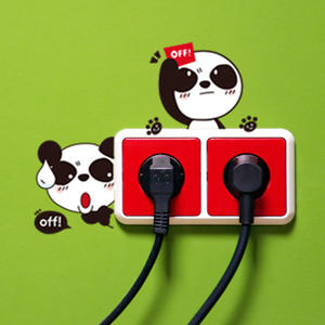Switch Sticker Cover-Socket Protective-Cover Home-Decoration Creative Waterproof Cartoon