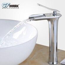Смеситель для раковины Современный белый смеситель для ванной комнаты Смесители типа водопад одно отверстие холодной и горячей воды кран Смеситель кран 6008