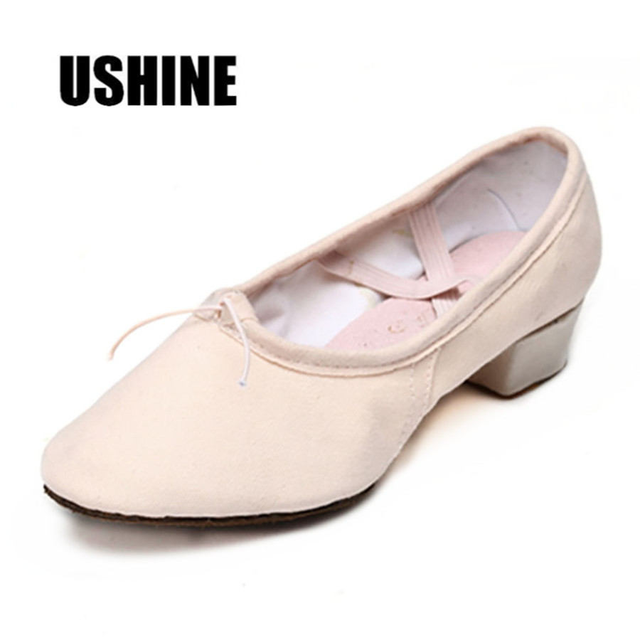 Canvas Pink Teacher Practice Ballet Dance Shoes Zapatillas ... |Practice Ballet Shoes