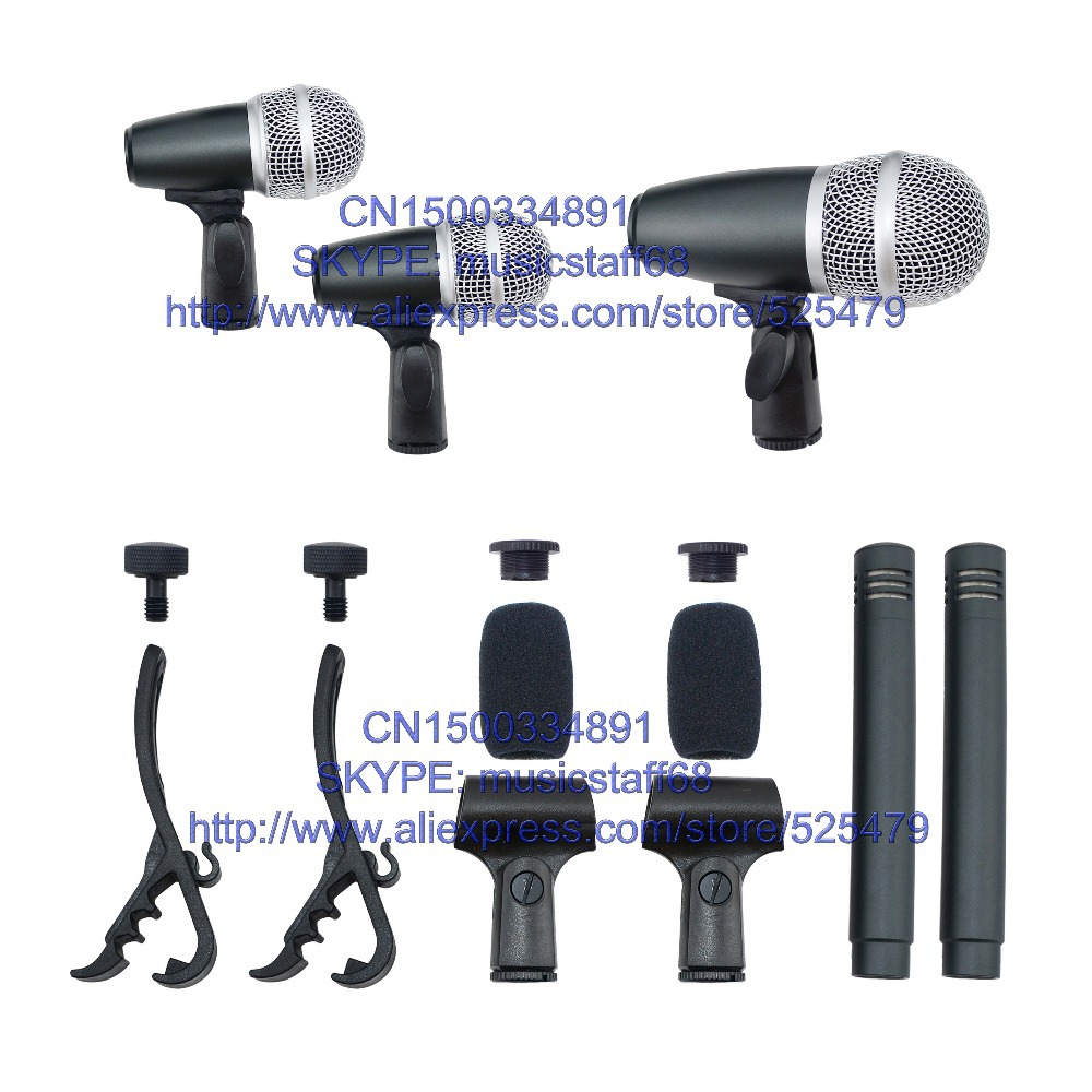 5pcs snare drum microphone set with clip foam accessories fast and safety express shipping. Black Bedroom Furniture Sets. Home Design Ideas