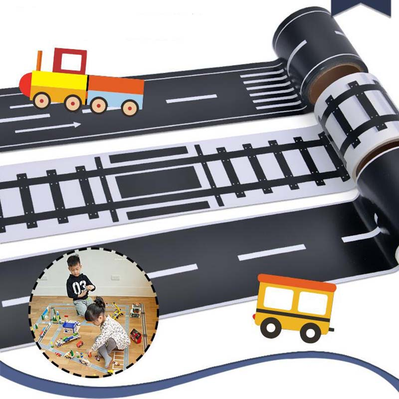 Knowledgeable Traffic Maze Board Game Funny Traffic Road Adhesive Masking Tape Road Board Game For Children Toy Family Card Game 5cmx5m Entertainment