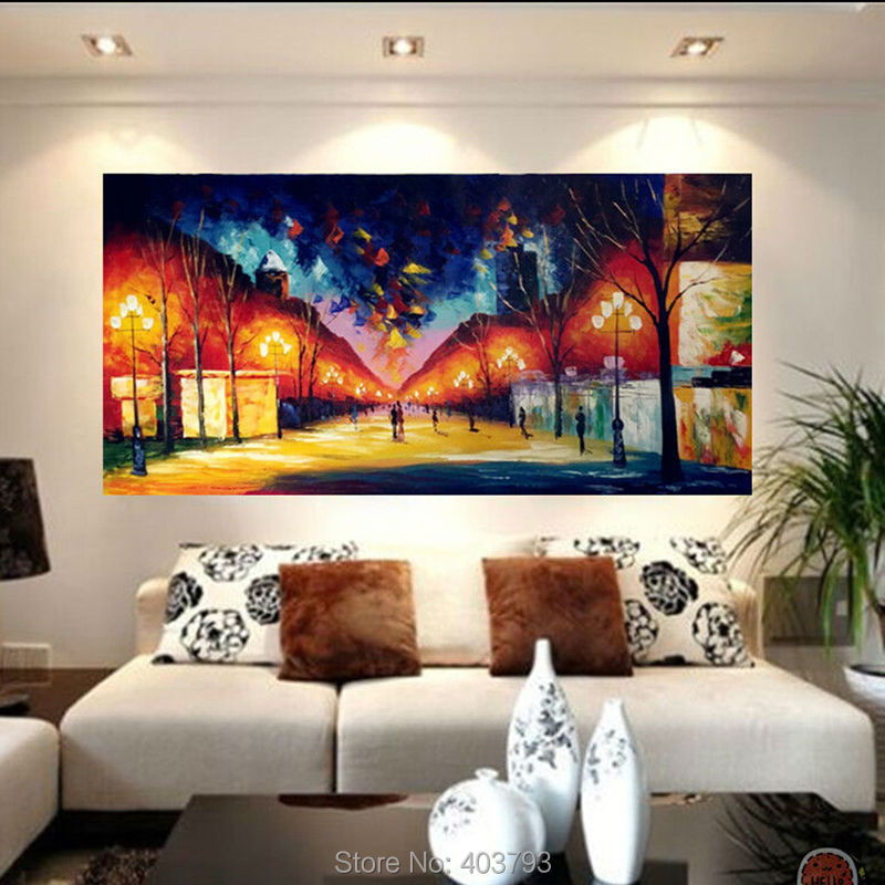 Modern Large Hand painted Art Oil Painting Abstract Wall Decor ...