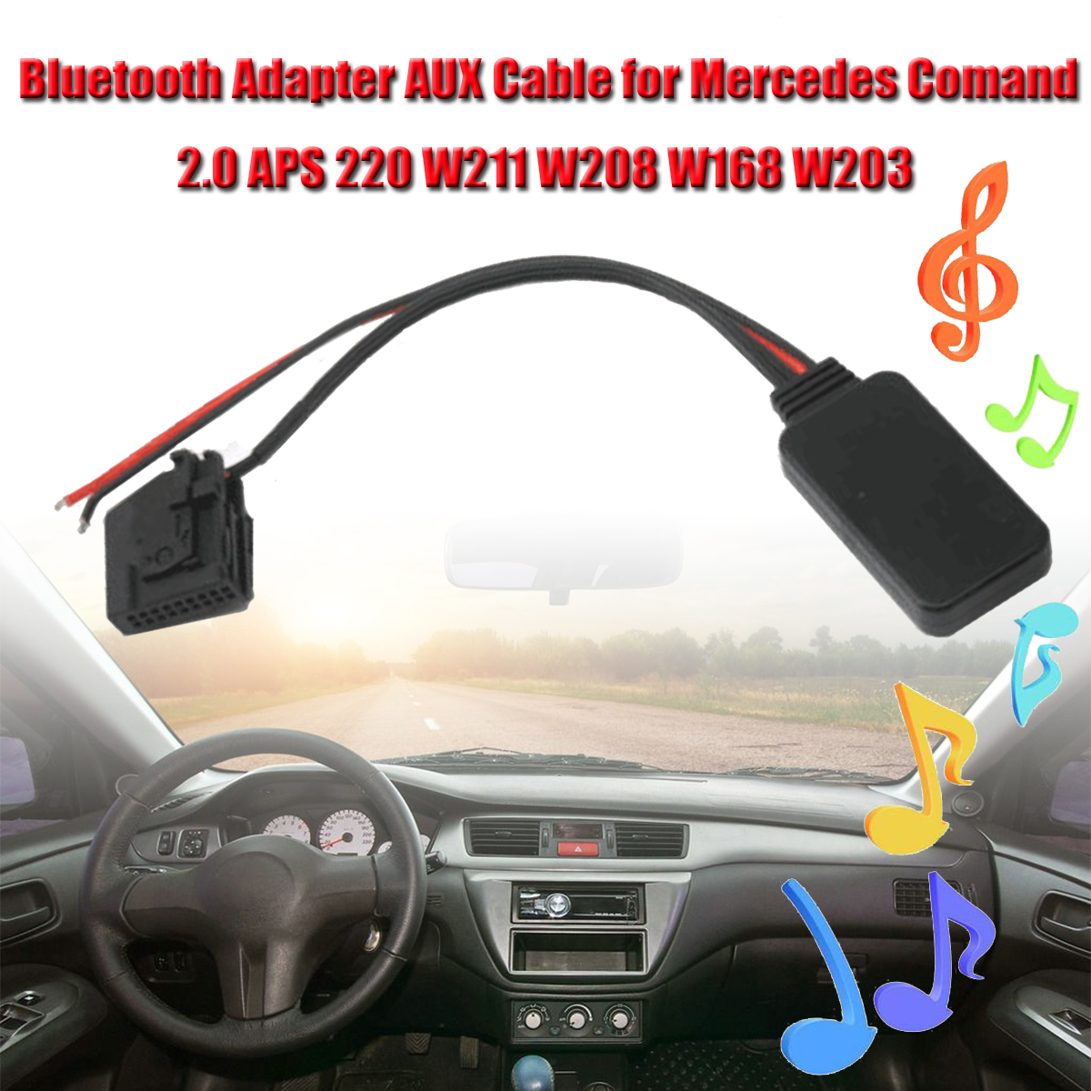 bluetooth Car Adapter AUX Cable for Mercedes Comand 2.0 APS 220 W211 W208 W168 W203 Audio Playback Audio Car AUX Cable image