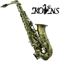 Professional Antique 54 Reference Alto Saxophone Sax With Case Metal Mouthpiece Antique Copper Simulation Alto Saxophone