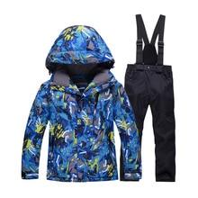 Children Snow Ski snowboard Outdoor Skiing Clothes Windproof Waterproof Costume Winter Coat Ski Suit Set Jacket + Pant Gilr/Boy
