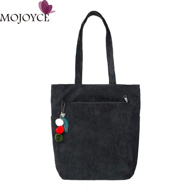 307be20c4e Côtelé Pour Main Filles Sacs Shopping black Messager Pink Sac Adolescent D'épaule  Femmes Grand Totes ...