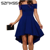 2017 vendita calda nuove donne sexy del partito dress solid colore off spalla mini vestiti night club mini dress vestidos Femininos