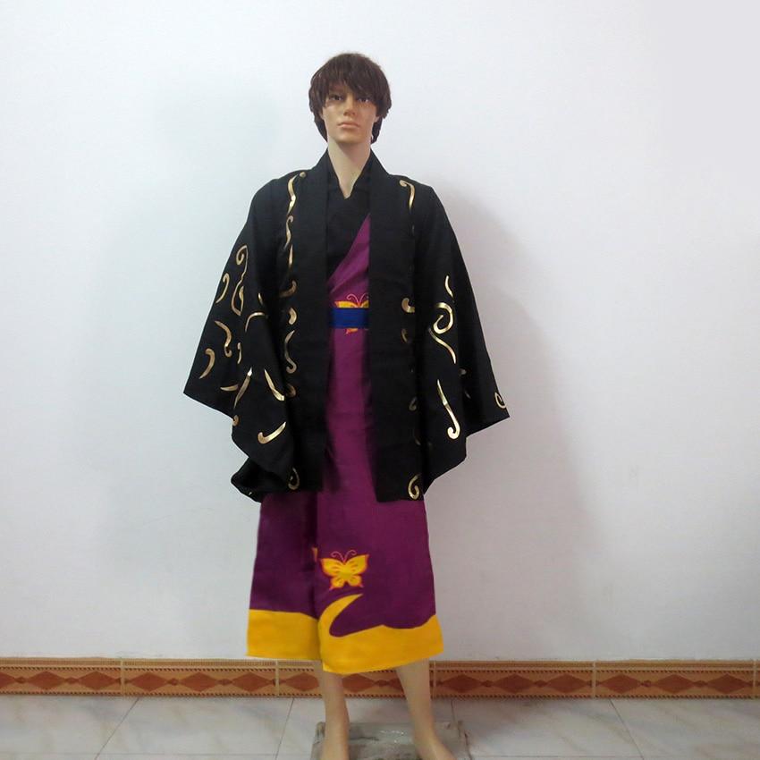 GinTama Shinsuke Takasugi Christmas Party Halloween Uniform Outfit Cosplay Costume Customize Any Size