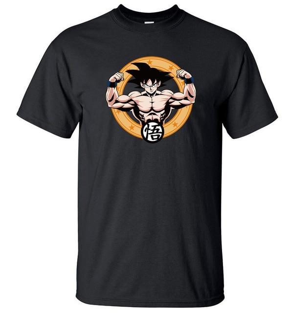 Japanese Anime Dragon Ball Z Goku Printed Men T Shirt 2017 Summer Hot Sale T-Shirts 100% Cotton Harajuku Style Camisetas Hombre