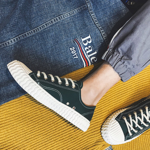 Image 5 - CeLai men shoes 2020 new green lace up canvas shoes male spring and summer casual shoes man student male sneakers krasovki A 011