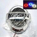 Бесплатная доставка 4D БЕЛЫЙ КРАСНЫЙ СИНИЙ Led стиль Логотип ЗАДНИЙ ПЕРЕДНИЙ Эмблема Значок Для NISSAN TIIDA и X-TRAIL Geniss