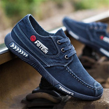 Spring autumn new Breathable denim lace canvas shoes breathable casual deodorant wear sneakers mens tide sportsrunning