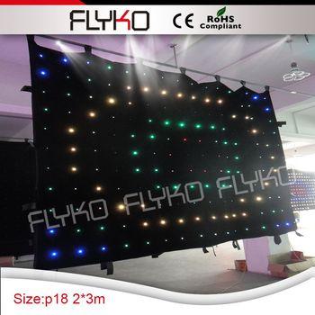 Normale dimensione 2x3 m P18 led luci decorazione fase di nozze flessibile cortina led display