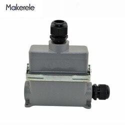 Heavy Duty złącza zaciskane MK HE 024 4D 16A zasilania bloku zacisków wtyczki łączniki do ciężkich przedmiotów do przędzenia i maszyna do pakowania|Złącza|Lampy i oświetlenie -