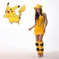 VASHEJIANG Anime Żółty Pikachu Kigurumi Kostium Kobiety Halloween Kostiumy Karnawałowe Fantasia Cosplay Sexy Party Fancy Dress