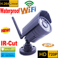 ip camera 720p wifi cctv security system waterproof wireless weatherproof outdoor infrared mini Onvif H.264 IR Night Vision Cam