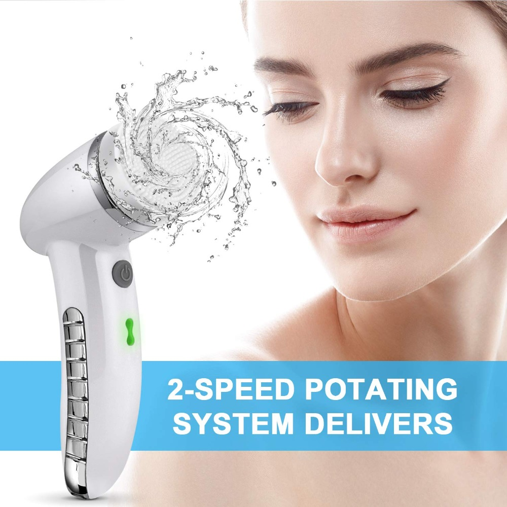 Купить щетка для очищения лица sonic vibration mini очиститель силиконовая