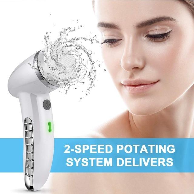 щетка для очищения лица sonic vibration mini очиститель силиконовая фотография