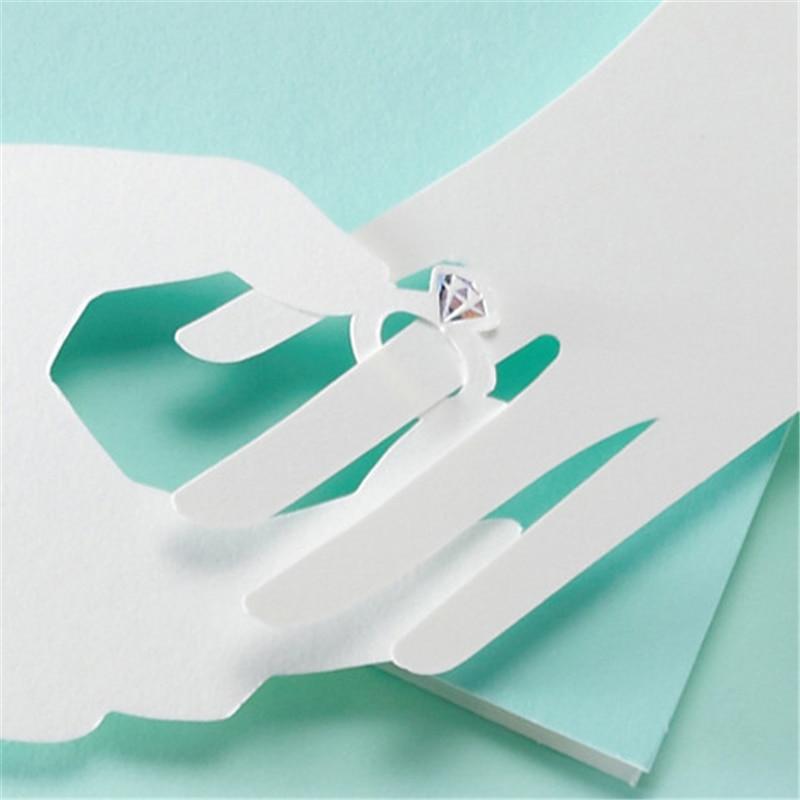Niebieska Karta Zapraszająca 30 sztuk Elegancki Laserowo Wycinane - Materiały świąteczne - Zdjęcie 6