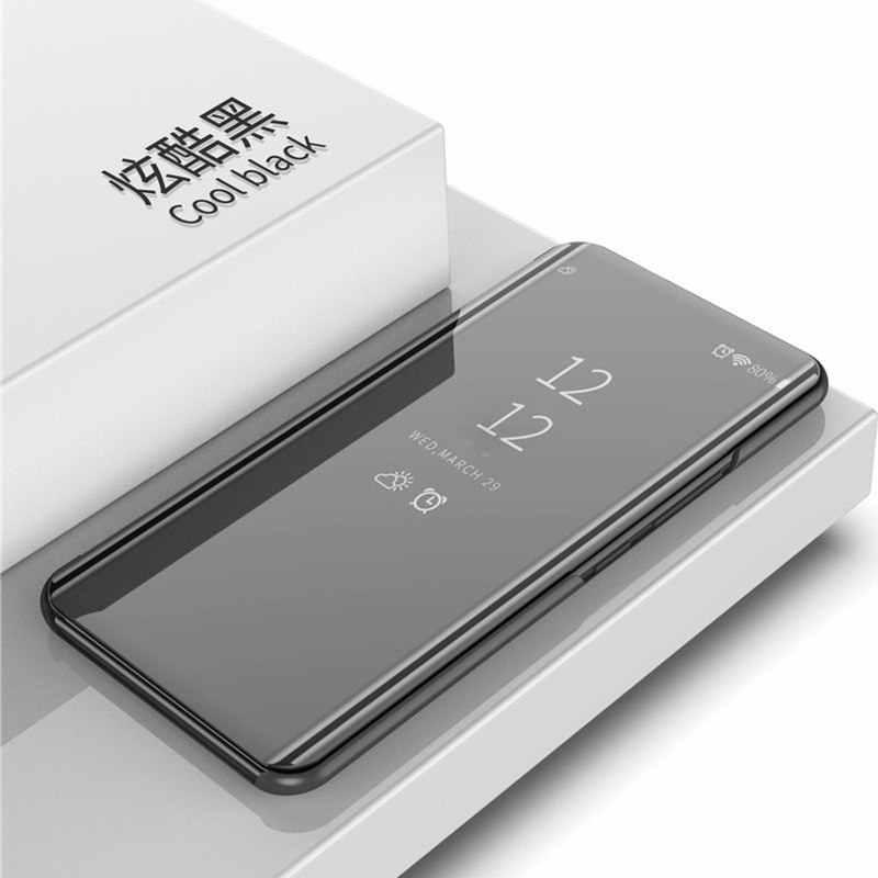 مرآة ذكية حقيبة لهاتف سامسونج جالاكسي A9 2018 A920 SM-A920F حافظة ظهر واضحة أغطية جلد لاجهزة سامسونج A7 2018 A750