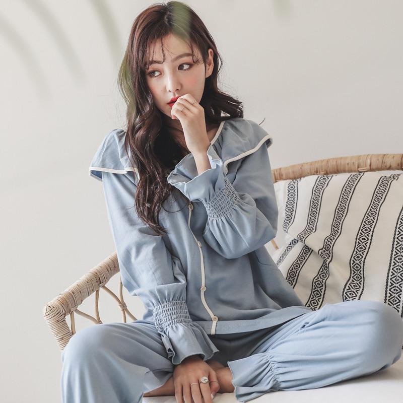 2018 autumn maternity clothes long sleeve breastfeeding sleepwear nursing pajamas for pregnant women maternity nightgown цена
