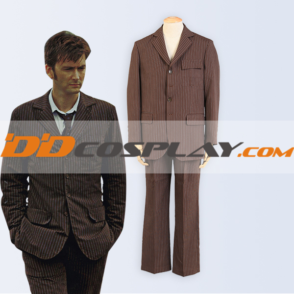 Hot Sale Doctor Who Tenth 10th DR. David Tennant brown suit