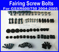 New Motorcycle Fairing common screw bolts kit for SUZUKI GSXR 600 750 K4 2004 2005 GSXR600 GSXR750 04 05 black fairings bolt scr