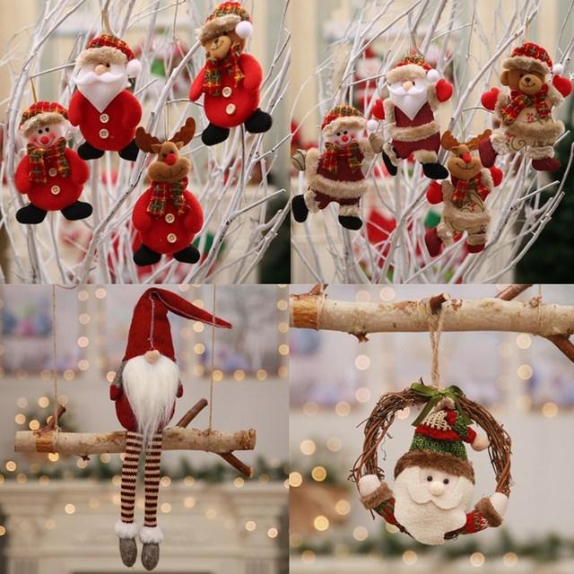 Christmas home decor hanging ornaments dolls christmas tree decorations New year hanging decorations for home enfeites de natal